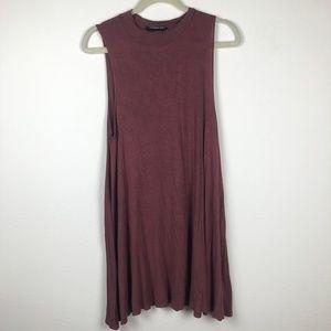 Mock neck swing dress